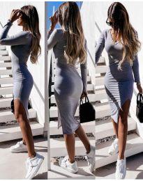 Šaty - kód 8291 - šedá