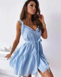 Šaty - kód 0710 - 2 - svetlo modrá