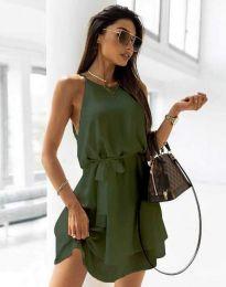 Šaty - kód 9968 - olivovo zelená