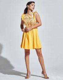 Šaty - kód 1482 - 3 - žltá