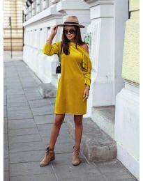 Šaty - kód 8171 - hořčičná