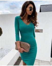 Šaty - kód 4040 - tyrkysová
