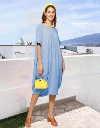 Šaty - kód 5554 - svetlo modrá