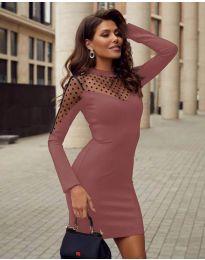 Šaty - kód 2484 - pudrová