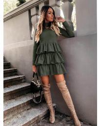 Šaty - kód 2951 - olivová  zelená