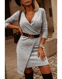 Šaty - kód 9977 - sivá