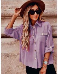 Košeľa - kód 5293 Svetlo fialová