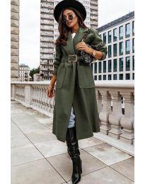 Kabát - kód 9888 - olivová  zelená