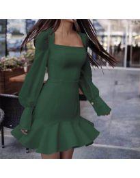 Šaty - kód 3605 - olivová  zelená
