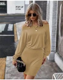 Šaty - kód 4447 - hnedá