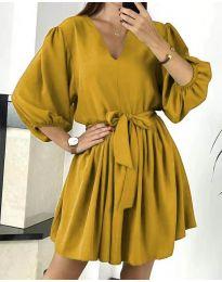 Šaty - kód 6210 - hořčičná