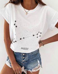 Tričko - kód 2342 - biela