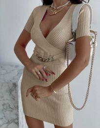Šaty - kód 4305 - bežová