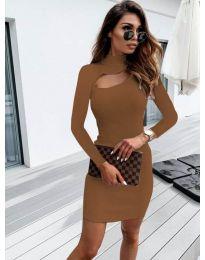 Šaty - kód 883 - hnedá