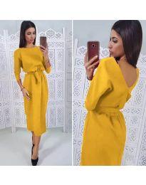 Šaty - kód 974 - hořčičná