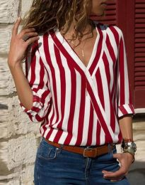 Košeľa - kód 5633 - 2 - červená