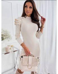Šaty - kód 2915 - 2 - biela