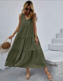 Šaty - kód 2743 - olivovo zelená