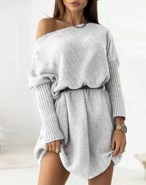 Šaty - kód 6940 - sivá