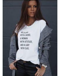 Tričko - kód 908 - 2 - biela