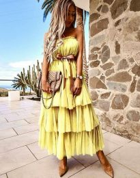 Šaty - kód 1543 - žltá