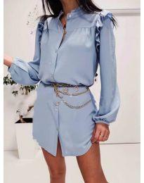 Šaty - kód 3433 svetlo modrá