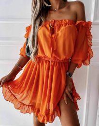 Šaty - kód 0223 - oranžová