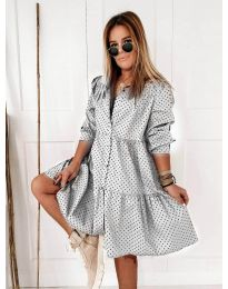 Šaty - kód 5557 - biela
