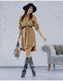 Šaty - kód 9601 - hnedá