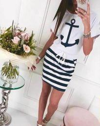 Šaty - kód 7369 - 2 - biela