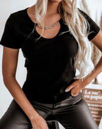 Дамска тениска в черно - код 4553