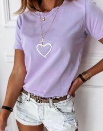 Tričko - kód 3701 - svetlo fialová