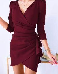 Šaty - kód 32897 - bordeaux