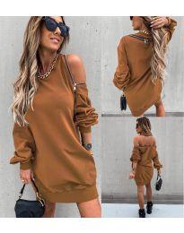 Šaty - kód 296 - hnedá