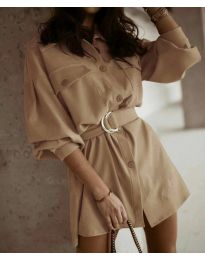 Šaty - kód 6461 - cappuccino