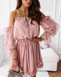 Šaty - kód 0223 - pudrová