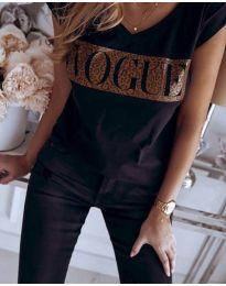 Tričko - kód 2621 - čierná