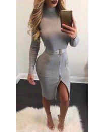 Šaty - kód 2053 - 1 - šedá