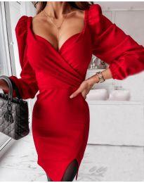 Šaty - kód 2595 - červená