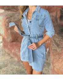 Šaty - kód 0459 - 1 - modrá