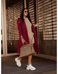 Kabát - kód 7555 - bordeaux