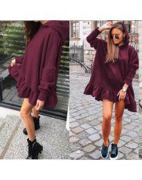 Šaty - kód 9669 - bordeaux
