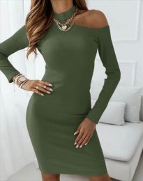 Šaty - kód 4859 - olivová  zelená