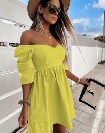 Šaty - kód 7413 - žltá