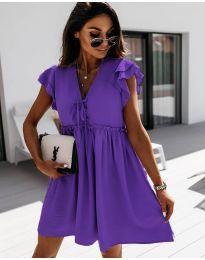 Šaty - kód 2093 - tmavě fialová