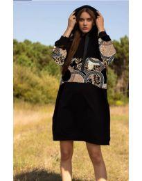 Šaty - kód 4546 - 4 - čierná