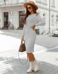 Šaty - kód 8203 - sivá