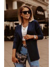 Дамско сако в тъмно синьо изчистен модел - код 2900