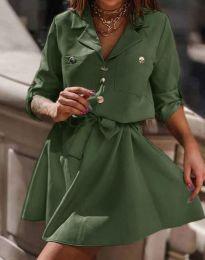Šaty - kód 4950 - olivovo zelená