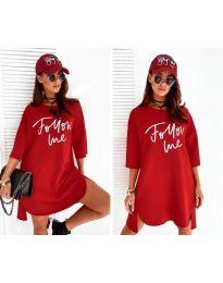 Šaty - kód 0522 - červená